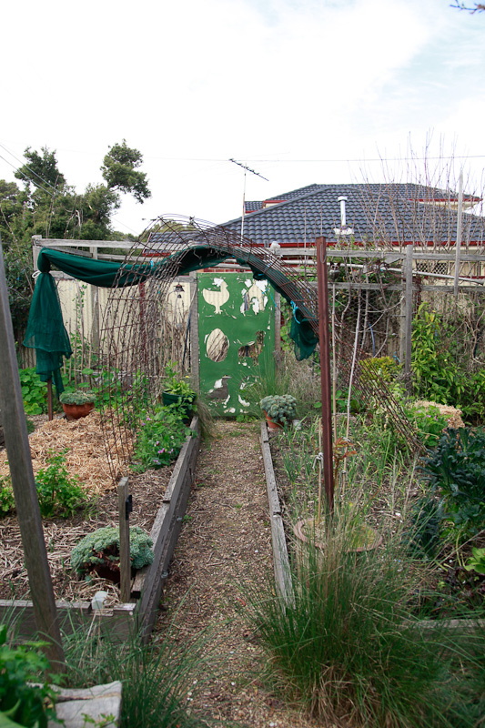 Shade cloth within easy access