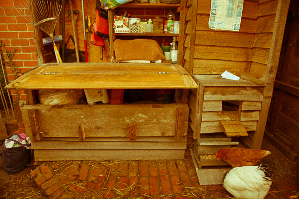 Top folds out to create a seed raising bench.