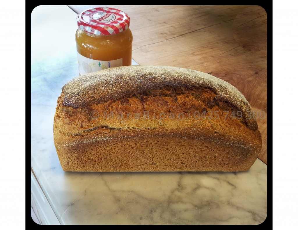 This loaf is made from a mixture of flours; Rye 30% Wholemeal 60% White 10%.
