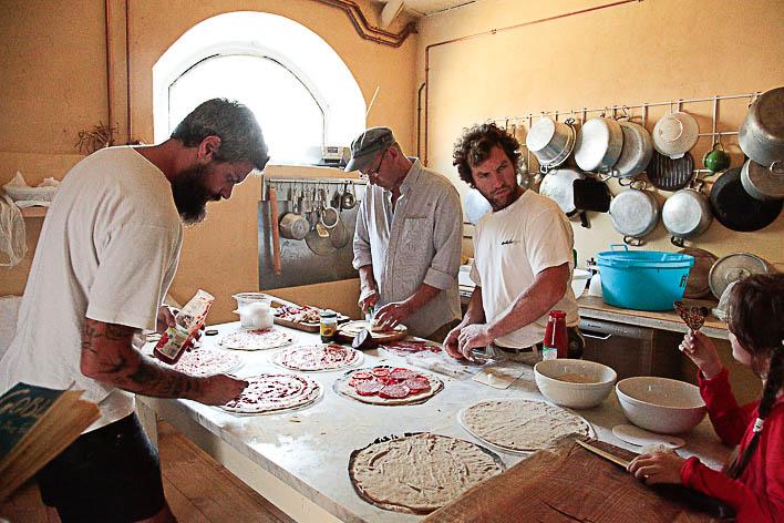 Barbialla's communal kitchen.