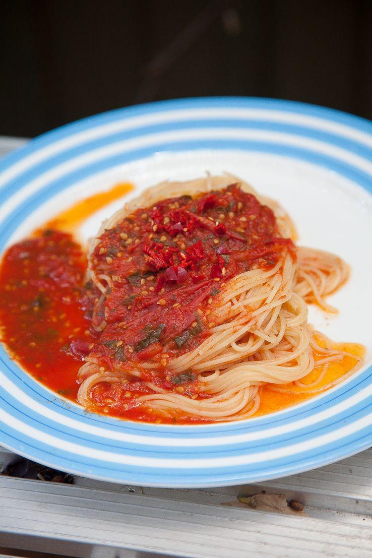 Spaghetti rossi.