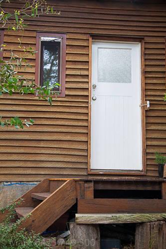 Back door entry into bathroom.