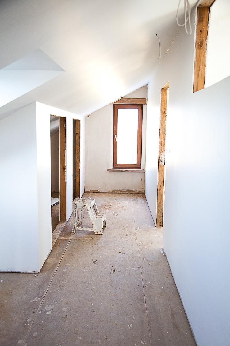 Corridors white.