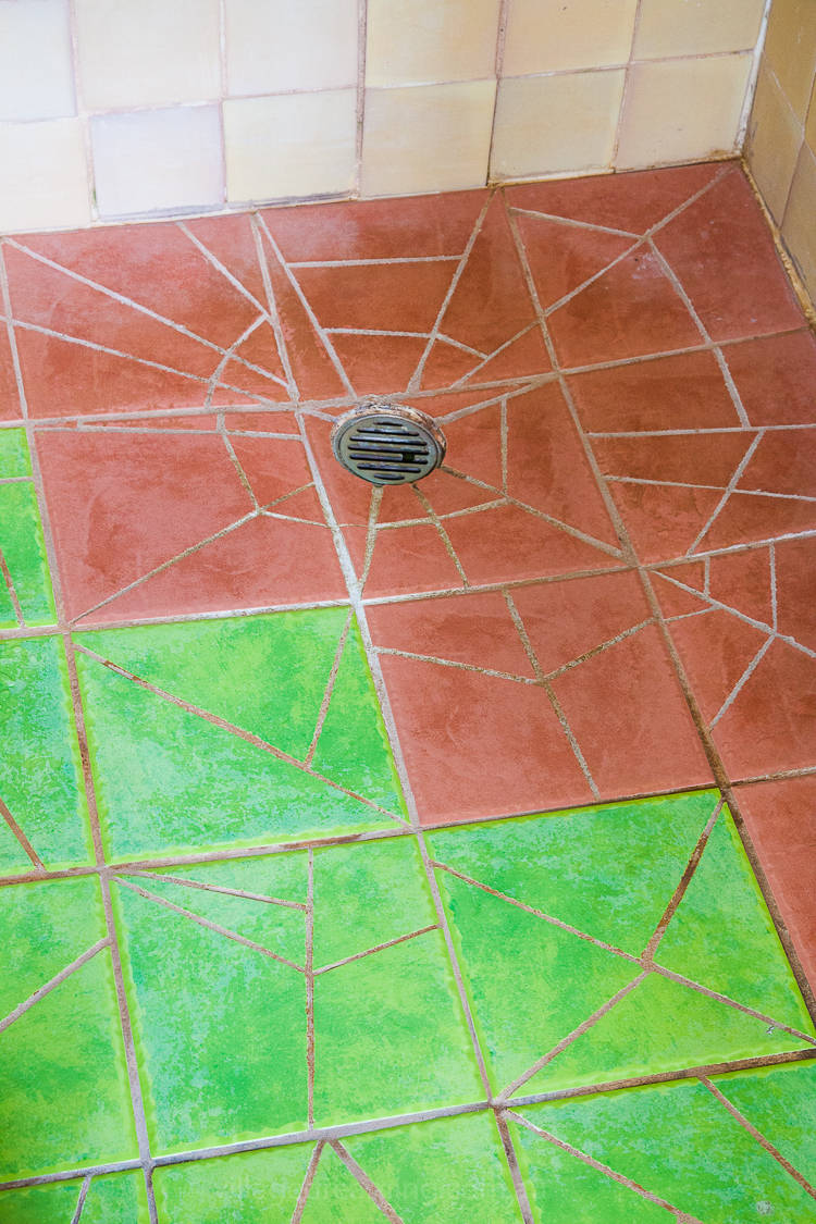 Shower floor and wall tiles all laid by Mara.