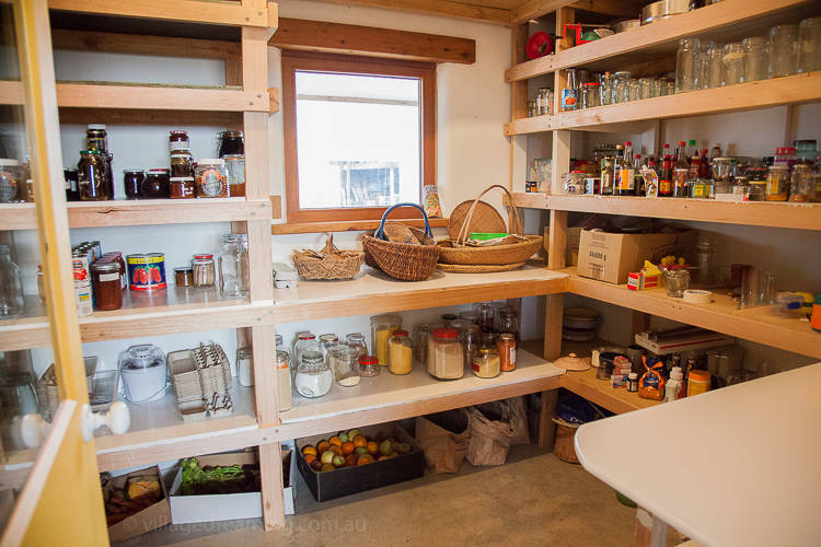 A larder is made with a cooling underground vent.
